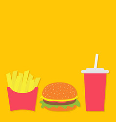french fries potato in a paper wrapper box burger vector image
