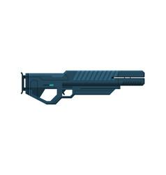 Futuristic space gun blaster black fantastic vector