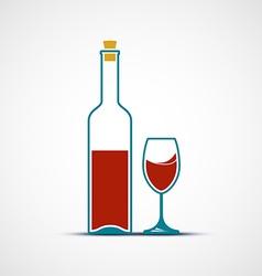 Glass wine vector