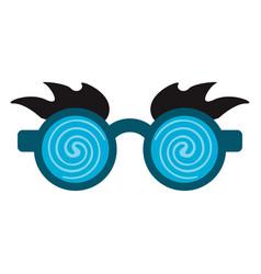 Glasses and eyes brows joke mask vector