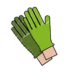Gloves accessory icon vector