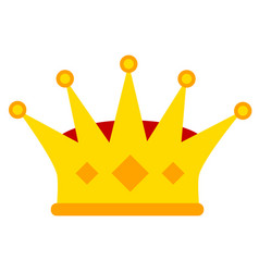 golden royalty crown icon image stock vector image