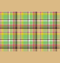 Green plaid pixel texture madras color fabric vector