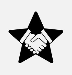 handshake on the star vector image