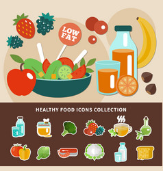 healthy eating low fat composition vector image