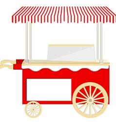 Ice cream red cart vector