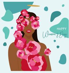 international womens day happy womens vector image