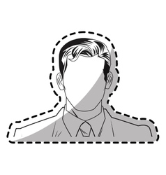 Isolated man with suit design vector