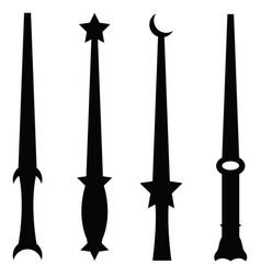 Magic wand icon set vector
