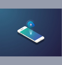 mobile isometric phone vector image