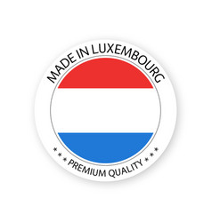 Modern made in luxembourg label vector