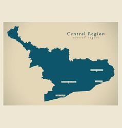 Modern map - central region map ghana gh vector