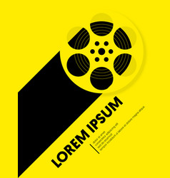 Movie and film modern retro vintage poster vector