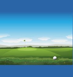 Nature golf background vector