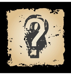 Old retro tattered paper with question mark eps10 vector