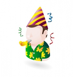 party dude icon vector image