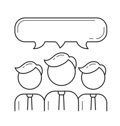 people teamwork line icon vector image