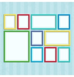 Photo frame on wall in a flat style vector