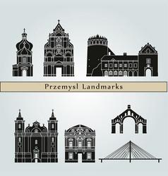 przemysl landmarks vector image