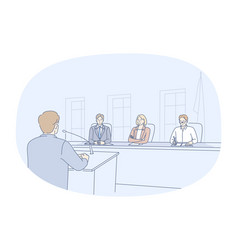 public speaker meeting conference concept vector image
