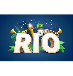Rio 2016 games eps 10 vector