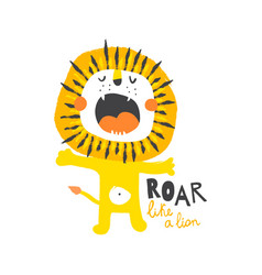 roar like a lion vector image
