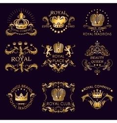 Royal Traditions Golden Logos vector