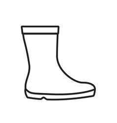 rubber boots simple gardening icon in trendy line vector image