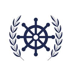 rudder wheel icon vector image