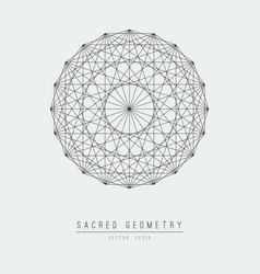 sacred geometry line element flower life vector image