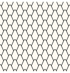 Seamless pattern with stylized scales vector image