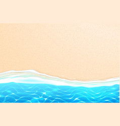 seaside beach azure waves sand coast vector image