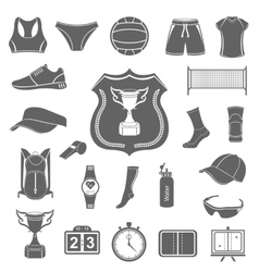 Set of icons volleyball vector