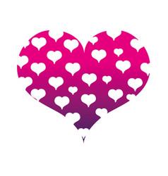 silhouette hearts design inside big heart vector image