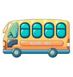small city school bus icon cartoon style vector image