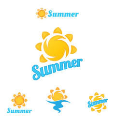 summer logo beautiful summer vector image