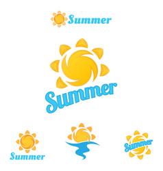 summer logo beautiful vector image