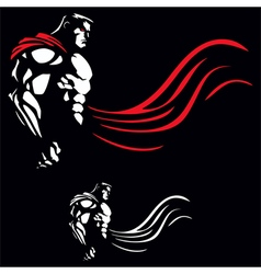 Superhero on black vector