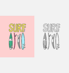 surfboard sign summer surf surface water sport vector image