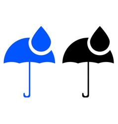 umbrella and rain drops icon vector image