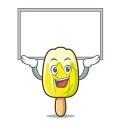 Up board lemon ice cream character cartoon vector