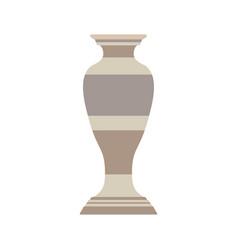 vase decorative flower pottery design decoration vector image