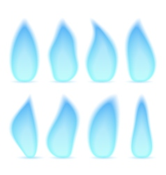 Blue Gas Flame vector image