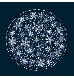 Christmas Background with White Snowflakes Ball vector image vector image
