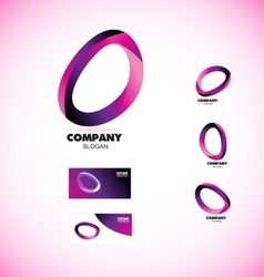 Coporate business media circle logo vector image
