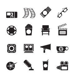 Silhouette Cinema and Movie vector image