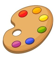 Art palette icon cartoon style vector image vector image