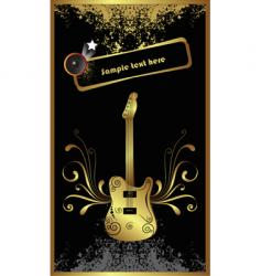 gold bass vector image vector image