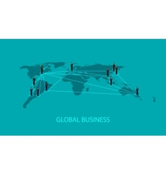3d isometric of business people standing on the vector image vector image