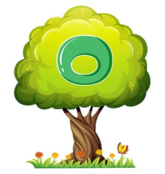A tree with a letter O vector image vector image